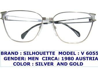 silhouette eyewear /vintage silhouette eyeglasses / silhouette men vintage eyeglasses / dressy silhouette eyeglasses /