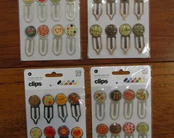 STORE CLOSING Sale Basic Grey Decorative Paper Clips--Set of 4