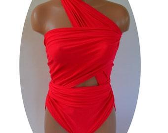 2XL Bathing Suit Hot Pink Wrap Around Swimsuit Modest Swimwear Plus Size Swimsuit Bathing Suit Maternity Swimwear Plus Size One Piece