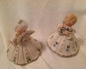 Vintage figurines Belle of the Ball with fans