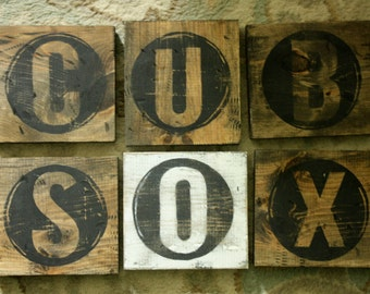 CHOOSE LETTER Small Rustic Typewriter Natural Letter Wood decor