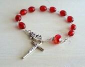 Car Rosary, Pocket Rosary, Rosary Bracelet, Rosary Chaplet, Religious Bracelet, Prayer Bracelet