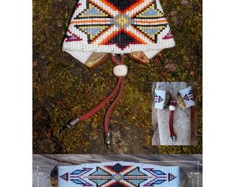 Loom Beaded Apache Design Bracelet No.5