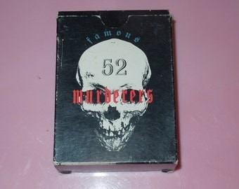 52 Famous Murderers Collector Trading Cards Mother Productions
