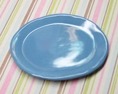 Miniature platter 1:6 scale serving dish playscale cornflower blue ceramic kitchen tray 52mm for fashion dolls & bears that are 7-14 inches