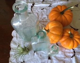 Antique bottles 1800s Halloween decor potion bottles vases MA history