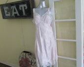 Vintage Eve Stillman Couture Nightgown / Pink Lace Nightgown Large