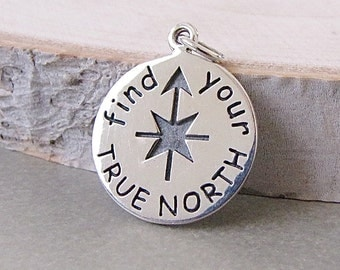 Find Your True North Charm - Compass Charm