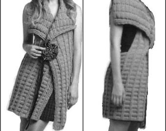 Wrap Vest Lightweight Crochet Pattern Fall Fashion Vest PDF Pattern Is not a finished product. It is a PDF Pattern