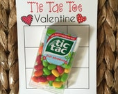 Valentine PRINTABLE- TicTacToe Valentine! (INSTANT DOWNLOAD) by SweetTeaPaper