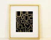 Black & Gold Frames 8x10 Instant Download Art Print Room Decor Wall Art Printable Classic Classy Decoration Painted Frames New Years Party