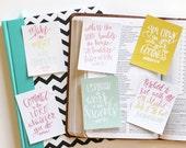 6 New Years Scripture Memory Verse 3x4 Encouragement Cards Handlettered DIGITAL Download Work Vision Motivation Bible Verse Notecards