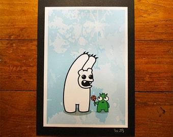 Polo Scare - A4 Print - Urban Graffiti Art - Cute Ltd Edition, Numbered Character Prints. Pop Graff Creature Polar Bear