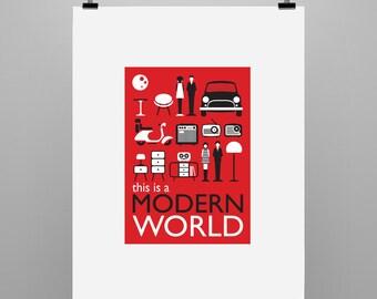 Modern World - Graphic Illustration Print