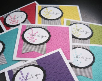 Handmade Thank You Cards Set of 7