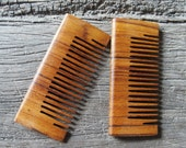 TEAK Wood Hair Comb Pocket Size Lightweight but Strong Handmade Hair Comb with Anti-Static & No Snag