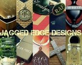 """RESERVED for JESSE: EXPLICIT """"Keep Calm"""" Custom Engraved Roller Derby Glass Pilsner - Finished Product"""