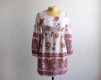 Vintage 60s Gauzy Babydoll Mini Dress