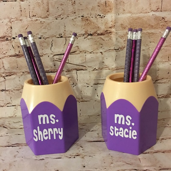 Personalized Pencil Holder Back To School Teacher Gift