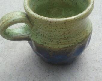Unique blue and green mug