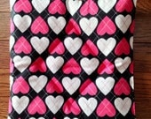 Valentine pooch pad pink white black hearts for American Girl pets