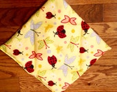 Lady bugs and butterflies pooch pad and optional puppy pillow for American Girl doll pets