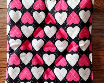 Pooch pad for American Girl pets: pink white black hearts