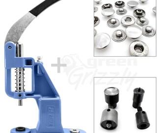 Starter set, hand press, setting tool for S spring press fastener, S003