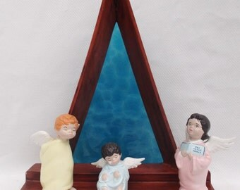 Vintage Ceramic Christmas decoration Angel Kids Choir Boys Mischief Makers home decor Christmas