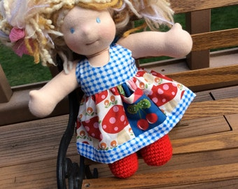 "Waldorf doll clothes, 10"" Little Buddy, PICNIC!..."