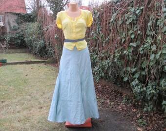 Long Linen Skirt Vintage