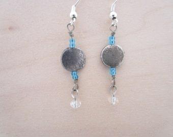 Antiqued Blue Earrings