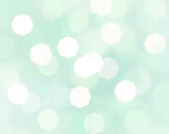 "Mint Green Bokeh background 12"" x 12"" diy, card making, wedding, craft"