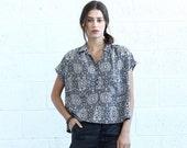 Valentines day SALE!Poncho Shirt, Geo Print