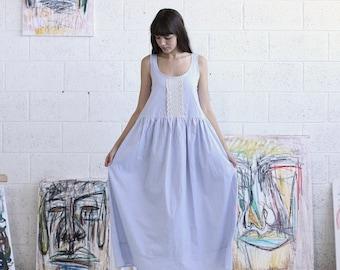 Summer SALE Cotton Maxi Dress,Farm dress ,Oversized dress