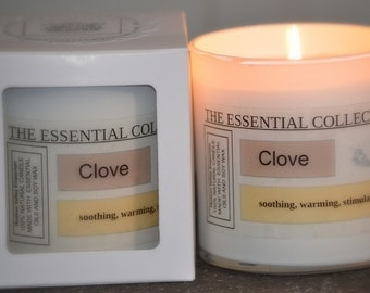 NATURAL CLOVE Soy Wax Candle The Essential Collection