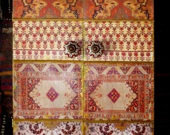 Moroccan inspired Cabinet, jewelry box, keepsake box,, wedding gift, medicine cabinet