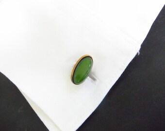 Vintage cufflinks, Cabochon cuff links, French cuff shirt, Two Girls Gems