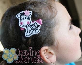 Zebra Hair Clip - Meet Miss Zia - Adorable