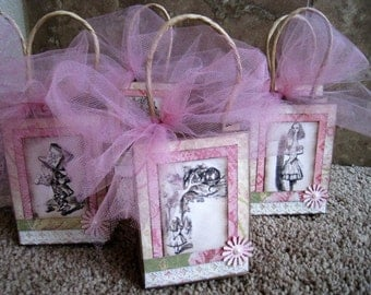 Alice in Wonderland Party Favor Bags - Set of Six