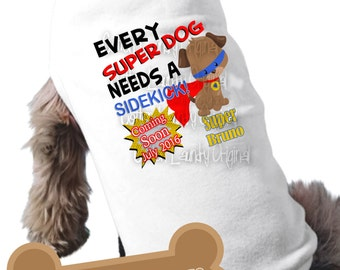 Big brother or big sister to be dog superhero superdog shirt pregnancy announcement dog shirt