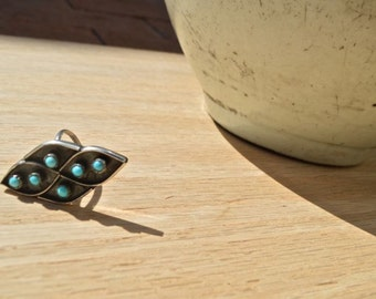 Turquoise Gypsy Ring, Size 7, Silver, Native American, Southwest Jewelry, Ring, Santa Fe, New Mexico, Handmade