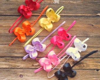 Hair bow, Set of 8, hair bow, baby hair bow, newborn hair bow, hairbow, hair clip, baby girl, infant headband, newborn headband, headband