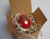 Red Pascha Egg With Cross
