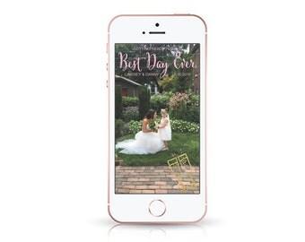 Snapchat GeoFilter for Wedding, Custom Snapchat Wedding Filter, Snapchat Event Filter, Snapchat Wedding GeoFilter, On Demand Geofilters