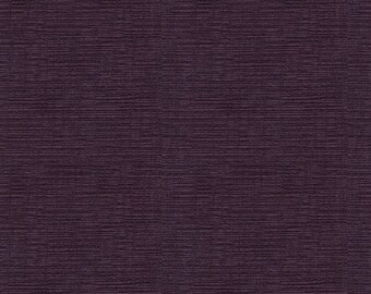 Heavenly Soft Textured Woven Chenille -  Soft, Very Durable, Washable Upholstery Fabric -  Color-  Plum - per yard
