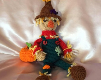 Crocheted Scarecrow - Amigurumi - made to order