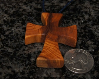Olive wood cross, gothic cross