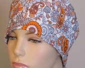 Orange and Gray Scrub Hat