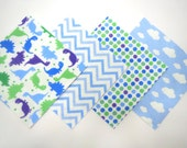 """48 Flannel Quilt Square Kit with 6""""x6"""" Flannel Squares in Fun Dinosaurs, Chevron, Dots and Cloud Prints"""